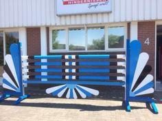 Blauwe waaier set