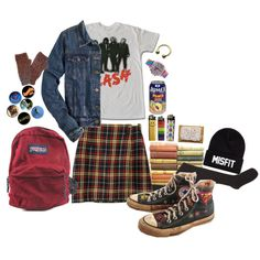Untitled #700 by ifuckinglovegerardway on Polyvore featuring J.Crew, Marni, Converse, JanSport and SSUR