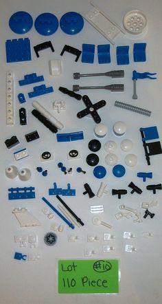 100 Pieces LEGO Parts EMT Fire Rescue Blue 30209 4079 3059 4213 2479 4714 3938 #LEGO