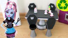 Manualidades para muñecas : Cómo hacer un juego de comedor y sillas mons...