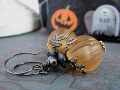 Pumpkin Gothic Earrings