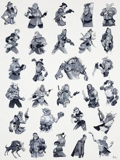 Here are all the Griftlands Inktober 2017 portraits in one place. Just figured it'd be fun to see them all together. Portrait Sketches, Drawing Reference, Inktober, Thunder, Character Design, Animation, Fantasy, Cartoon, Drawings