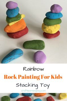 Easy and fun painted rocks for children. Educational Activities For Toddlers, Craft Activities For Kids, Projects For Kids, Diy Projects, Painted Rocks Craft, Painted Stones, Cute Kids Crafts, Kid Crafts, Painting For Kids