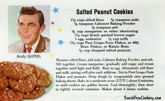 Salted Peanut Cookies~Andy Griffith