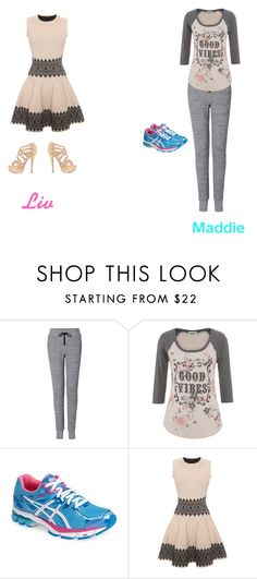 """""""Liv and Maddie"""" by adancer4592 ❤ liked on Polyvore featuring rag & bone, maurices, Asics and Alexander McQueen"""