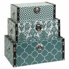3-Piece Hadley Storage Box Set in Blue
