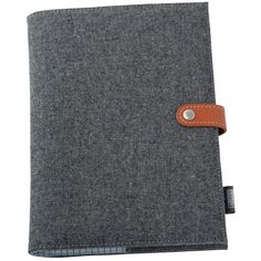 This wool blend refillable A5 Notebook with leather stud button closure is simply beautiful. Its classic design is perfect for him or her.