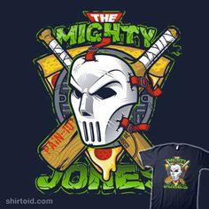 Shop The Mighty Jones ninja turtles t-shirts designed by Atomic_Rocket as well as other ninja turtles merchandise at TeePublic. Ninja Turtles Art, Teenage Mutant Ninja Turtles, Cartoon Network, Cricket T Shirt, Dc Comics, Tmnt, Cartoon Art, Illustration, Nerdy