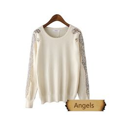女裝韓版兔絨刺繡打底針織衫毛衣661   Angels Fashion Shop