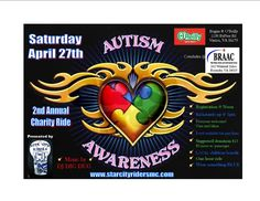2nd Annual Chairty Ride~Help raise money for the families right here in Roanoke that are affected by Autism! StarCity Riders