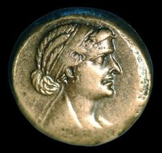 "Coin Depicting Cleopatra -""Her beauty was not exceptional enough to instantly affect those who saw her, but she had a charming way of conversing, and an invigorating presence. Her sweet voice was as well-modulated as a lyre, and she could speak whichever language she pleased."" Plutarch"