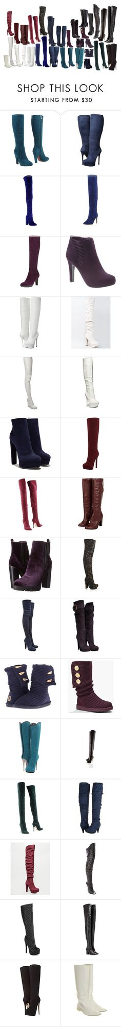 """""""Boots"""" by gone-girl ❤ liked on Polyvore featuring Cesare Paciotti, Jessica Simpson, Aquazzura, Joie, Aquatalia by Marvin K., Lane Bryant, Steve Madden, Qupid, Maison Margiela and Casadei"""