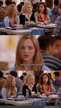 Why Are You White? #funny Mean Girls #movie #quote