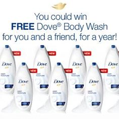 Win Dove Body Wash For a Year for You and a Friend
