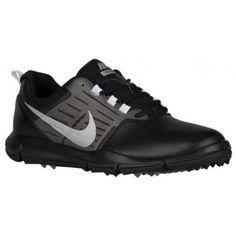 Nike Explorer SL Golf Shoes - Men s - Golf - Shoes - Black Cool Grey  Metallic Silver-sku 04694001 af1159e61