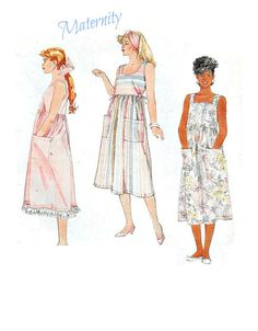 McCalls 3154 Easy to Sew Maternity Sleeveless by KeepsakesStudio