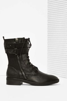 Dolce Vita Nolee Leather Combat Boot | Shop Shoes at Nasty Gal!