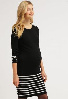 Köp JoJo Maman Bébé Stickad klänning - black/ecru för 699,00 kr (2016-12-10) fraktfritt på Zalando.se Maternity, Blouse, Long Sleeve, Sleeves, Black, Tops, Women, Fashion, Cast On Knitting
