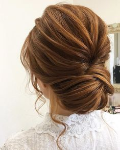 Image result for low chignon wedding updo