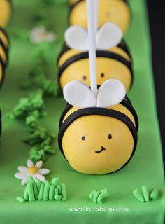 Maya the bee cakepops, Bee cakepop,
