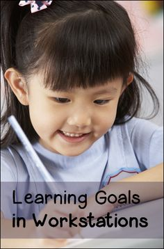 Learning Goals in Workstations - Great guest blog post by Brenda Frady of Primarily Inspired on Corkboard Connections