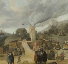 Traankokerij bij het dorp Smerenburg 1636