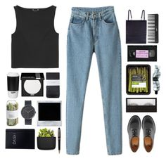 """""""Untitled #59"""" by maayan-styles ❤ liked on Polyvore featuring Dr. Martens, Monki, Hobbs, MAKE UP FOR EVER, ROOM COPENHAGEN, Polaroid, Uniform Wares, Crate and Barrel, Montblanc and MAKE UP STORE"""