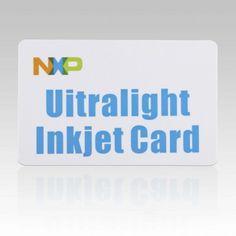 13.56MHZ RFID Blank Inkjet PVC Card- Mifare Ultralight 64bytes