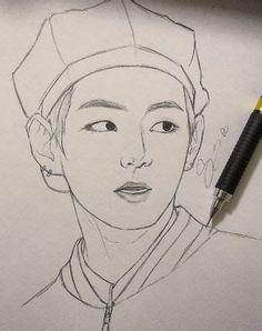 Girl Drawing Sketches, Art Drawings Sketches Simple, Pencil Art Drawings, Kpop Drawings, Cartoon Drawings, Taehyung Fanart, Art Drawings Beautiful, Arte Sketchbook, Yuka