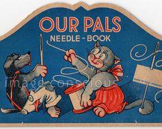 Vintage Needle Book Our Pals