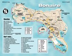 Bonaire Island map