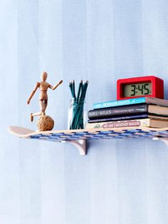 This idea only I would do a water ski instead.   DIY Decorating - Decor Ideas - Good Housekeeping