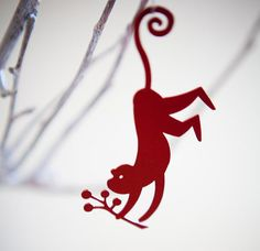 Monkey ornament - proudly South African by TinTown