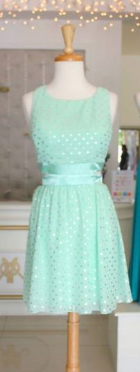 lovely mint dress. Nice for a day wedding.