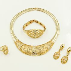 Find More Jewelry Sets Information about  Fashion African fashion jewelry Chunky 18K gold plated choker Jewelry Sets Austrian crystal Pendant earrings and Necklace Set,High Quality earring box,China earring organizer Suppliers, Cheap earrings bat from AE Jewelry&sport jerseys on Aliexpress.com
