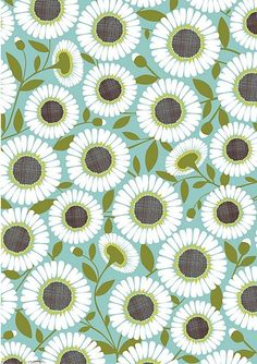 I really love how the colors work on this Pool Daisy wrapping paper - Paper Source Pretty Patterns, Flower Patterns, Flower Pattern Design, Paper Source, Motif Floral, Pattern Illustration, Surface Pattern Design, Textile Patterns, Pattern Paper