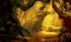 """Tarzan 2"" background art by Joel Parod"