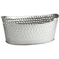 """Stainless Steel 18/"""" Long Oval Pan bowl planter flower box ice tub wine bucket"""