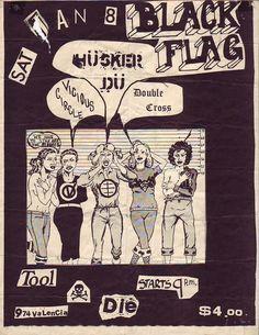 flyers année 80 punk .the black flag