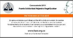 Convocatoria | Premio Solidaridad Alejandro Ángel Escobar.