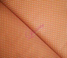 Bavlněná látka Bílé puntíky na oranžové Scrappy Quilts