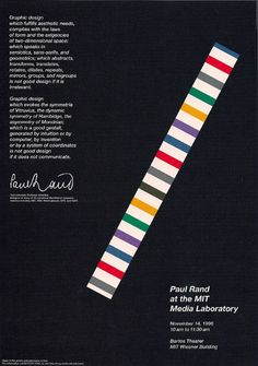 Poster designed for a Paul Rand exposition