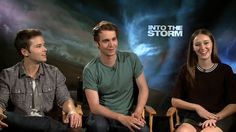 nathan kress into the storm | Nathan Kress, Max Deacon and Alycia Debnam Carey on 'Into the Storm'