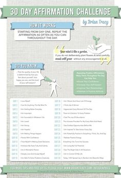 30dayinfographic - positive affirmations - positive thoughts - stay positive: