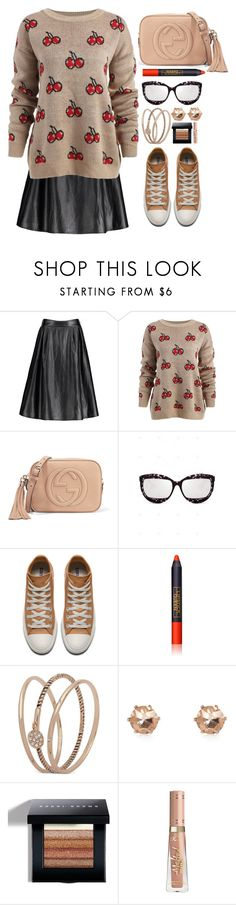 """""""My Style"""" by simona-altobelli ❤ liked on Polyvore featuring Gucci, Lipstick Queen, Anne Klein, River Island and Bobbi Brown Cosmetics"""