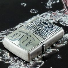 RARE Plated Silver 1998 ALIEN 20 Anniversary Mouth Zippo Lighter Limited Edition