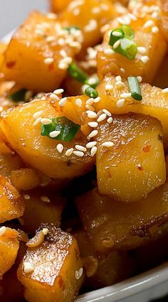 Sweet n' Spicy Braised Potatoes Korean Style