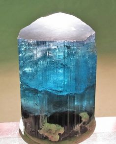 Indicolite Tourmaline w/ Lepidolite beautiful.... crystalized ocean / Mineral Friends <3