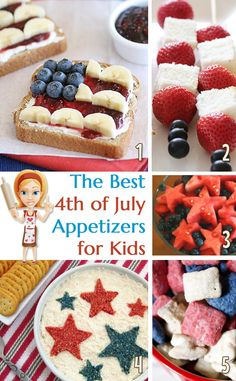 4th of July appetizers for kids that will be perfect for the kids at the party