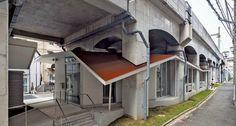 art and culture space under railway in yokohama, japan